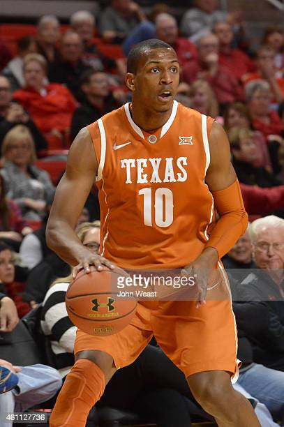 Jonathan Holmes of the Texas Longhorns during the game against the Texas Tech Red Raiders on January 3 2015 at United Supermarkets Arena in Lubbock...
