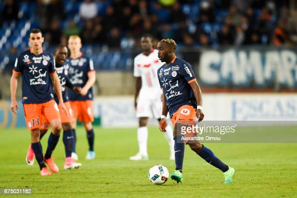 Jonathan Ikone of Montpellier during the French Ligue 1 match between Montpellier and Lille at Stade de la Mosson on April 29 2017 in Montpellier...
