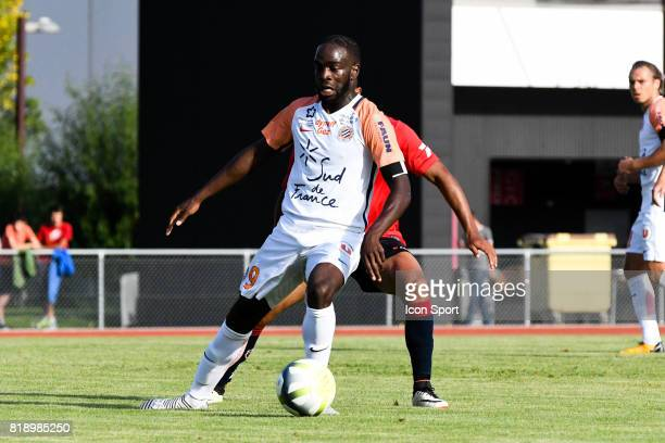 Jonathan Ikone of Montpellier during the friendly match between Montpellier Herault and Clermont foot on July 19 2017 in Millau France