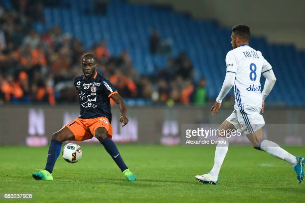 Jonathan Ikone of Montpellier during the Ligue 1 match between Montpellier and Olympique Lyonnais Lyon at Stade de la Mosson on May 14 2017 in...