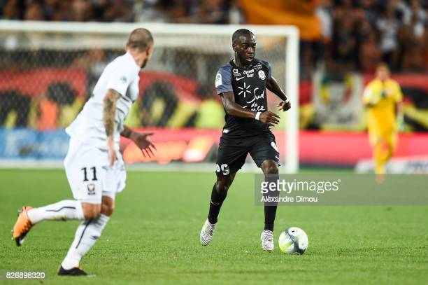 Jonathan Ikone of Montpellier during the Ligue 1 match between Montpellier Herault SC and SM Caen at Stade de la Mosson on August 5 2017 in...
