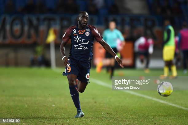 Jonathan Ikone of Montpellier during the Ligue 1 match between Montpellier Herault SC and Nantes at Stade de la Mosson on September 9 2017 in...