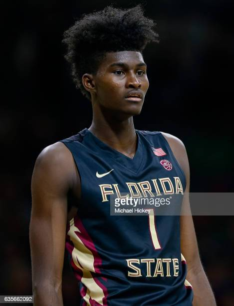 Jonathan Isaac of the Florida State Seminoles is seen during the game against the Notre Dame Fighting Irish at Purcell Pavilion on February 11 2017...