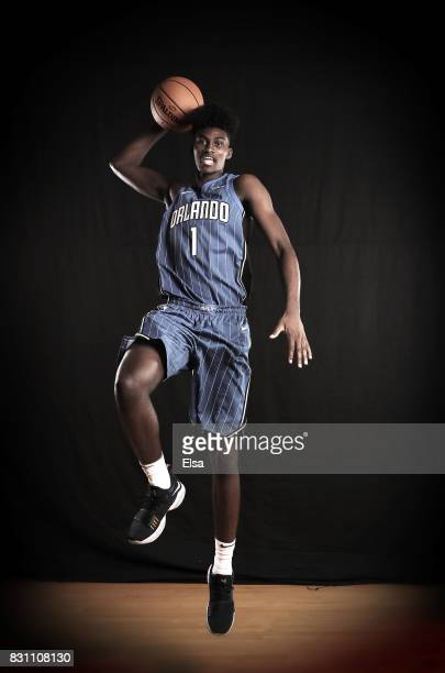 Jonathan Isaac of the Orlando Magic during the 2017 NBA Rookie Photo Shoot at MSG Training Center on August 11 2017 in Greenburgh New York NOTE TO...
