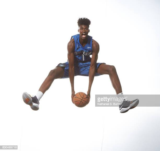 Jonathan Isaac of the Orlando Magic poses for a photo during the 2017 NBA Rookie Shoot on August 11 2017 at the Madison Square Garden Training Center...