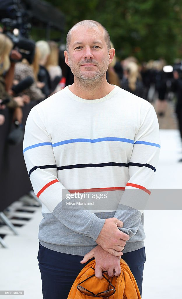 <a gi-track='captionPersonalityLinkClicked' href=/galleries/search?phrase=Jonathan+Ive&family=editorial&specificpeople=4418886 ng-click='$event.stopPropagation()'>Jonathan Ive</a> attends the front row for the Burberry Prorsum show on day 4 of London Fashion Week Spring/Summer 2013 on September 17, 2012 in London, England.