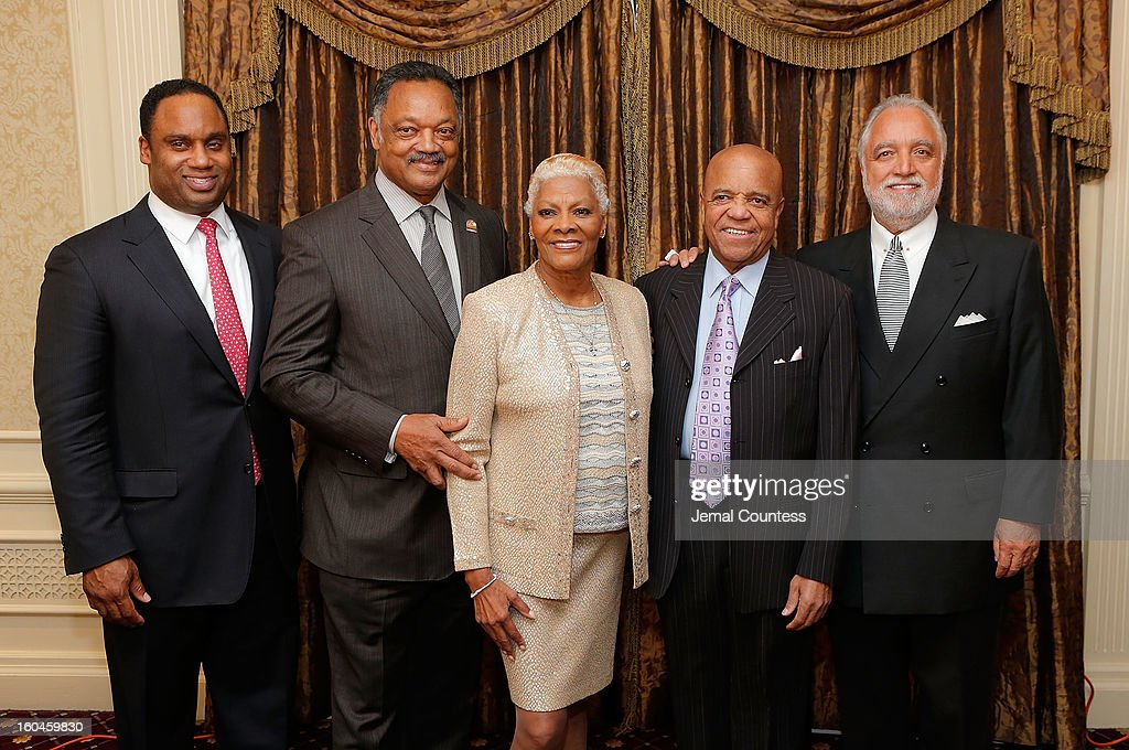 Jonathan Jackson, reverend Jesse Jackson, singer Dionne Warwick, record producer and founder of Motown Records Berry Gordy and Chairman and CEO of the Los Angeles Sentinel Danny J. Bakewell, Sr. attend The 16th Annual Wall Street Project Economic Summit - Day 1 at The Roosevelt Hotel on January 31, 2013 in New York City.