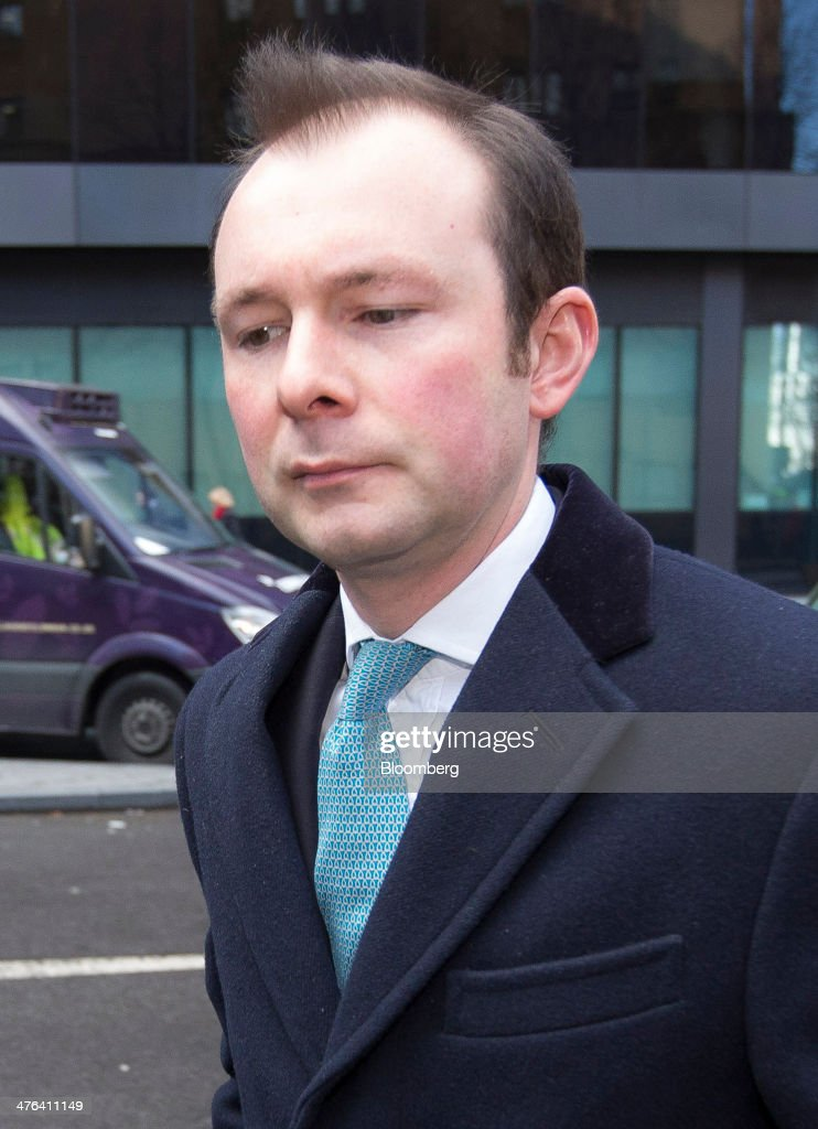 Jonathan James Mathew, a former Barclays Plc Libor trader, is seen arriving at Southwark Crown Court to faces charges in connection with the manipulation of the London interbank offered rate, or Libor, in London, U.K., on Monday, March 3, 2014. Prosecutors and regulators around the world are investigating whether more than a dozen firms colluded to rig the interest rate benchmark and have issued fines of about $6 billion against financial institutions. Photographer: Jason Alden/Bloomberg via Getty Images