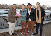 Jonathan 'JB' Gill Aston Merrygold Oritse Williams and Marvin Humes of JLS pose to launch the JLS Foundation supporting Cancer Research UK to...