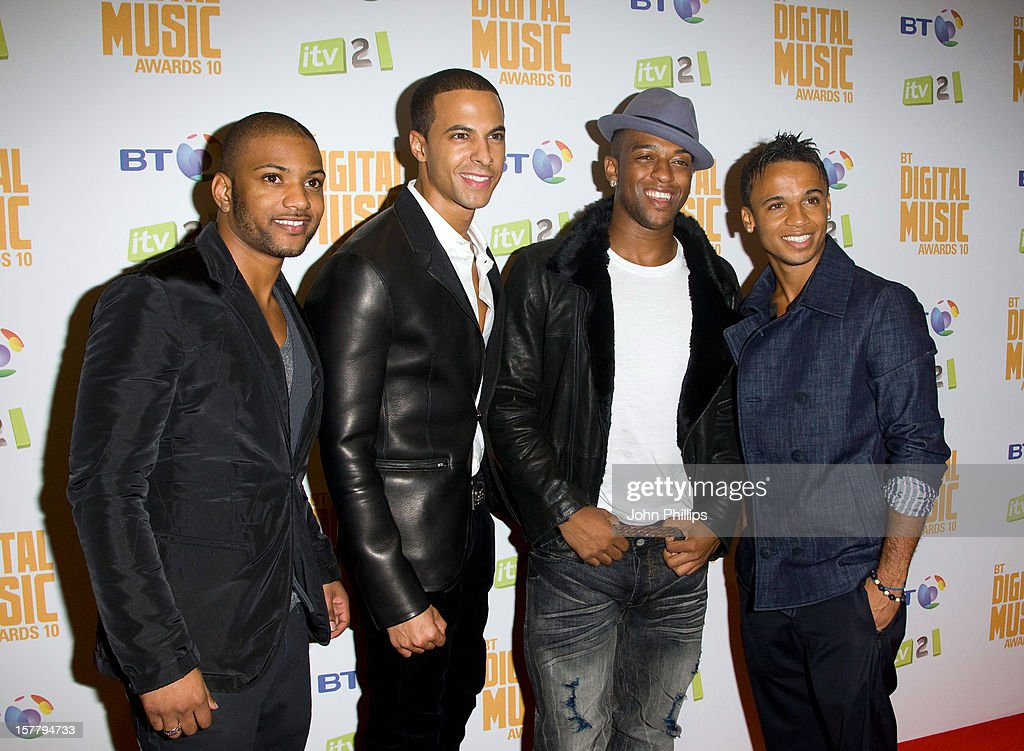 Jonathan 'Jb' Gill, Marvin Humes, Oritse Williams And Aston Merrygold Of Jls At The Bt Digital Music Awards 2010 At The Roundhouse In London.