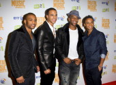 Jonathan 'Jb' Gill Marvin Humes Oritse Williams And Aston Merrygold Of Jls At The Bt Digital Music Awards 2010 At The Roundhouse In London