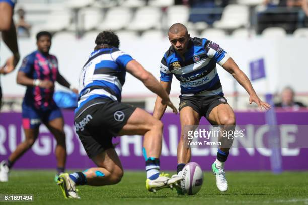 Jonathan Joseph of Bath during the European Challenge Cup semi final between Stade Francais and Bath on April 23 2017 in Paris France
