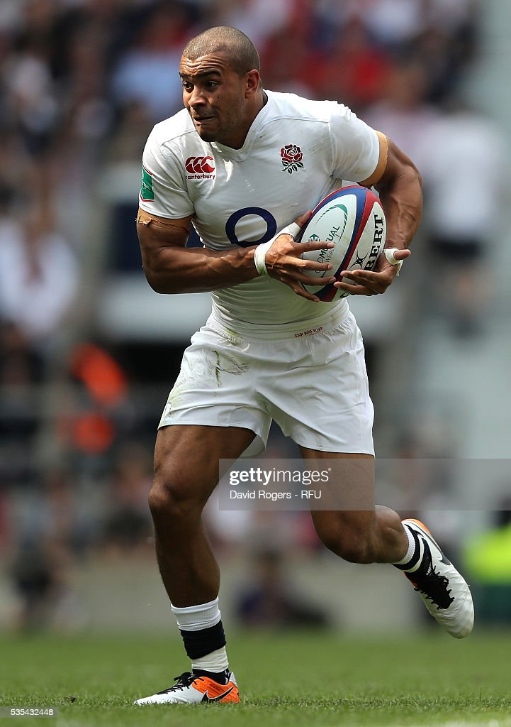 <a gi-track='captionPersonalityLinkClicked' href=/galleries/search?phrase=Jonathan+Joseph+-+Rugby+Player&family=editorial&specificpeople=11460526 ng-click='$event.stopPropagation()'>Jonathan Joseph</a> of England runs with the ball during the England v Wales International match at Twickenham Stadium on May 29, 2016 in London, England.