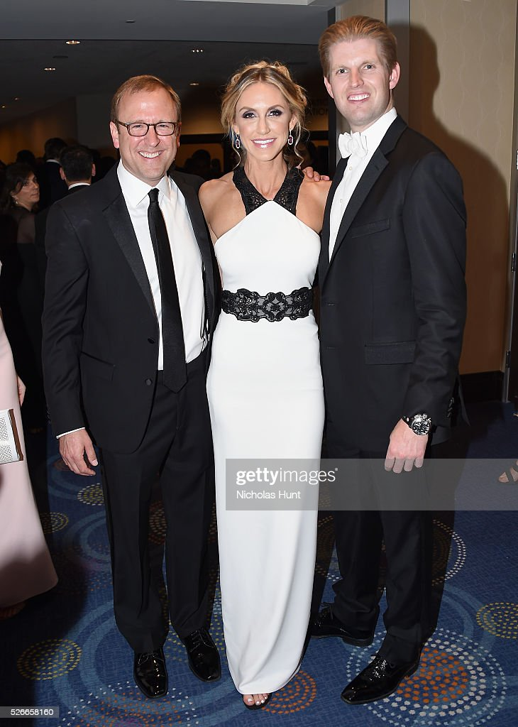 Jonathan Karl, Lara Yunaska, and Eric Trump attend the Yahoo News/ABC News White House Correspondents' Dinner Pre-Party at Washington Hilton on April 30, 2016 in Washington, DC.