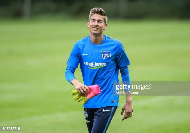 Jonathan Klinsmann during the sixth day of the training camp of Hertha BSC on july 13 2017 in Bad Saarow Germany