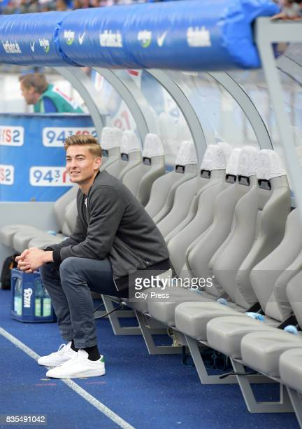 Jonathan Klinsmann of Hertha BSC before the game between Hertha BSC and dem VfB Stuttgart on August 19 2017 in Berlin Germany
