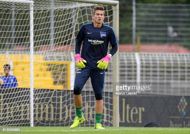 Jonathan Klinsmann of Hertha BSC before the test match between CarlZeiss Jena and Hertha BSC on july 16 2017 in Jena Germany