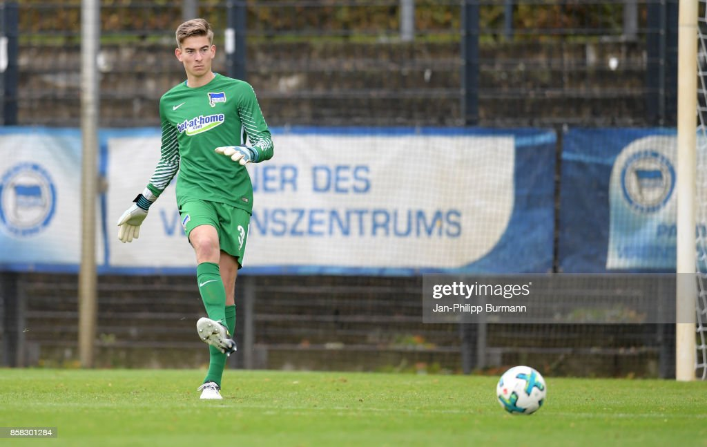 Jonathan Klinsmann of Hertha BSC during the test match between Hertha BSC and the Polizeiauswahl on october 6, 2017 in Berlin, Germany.