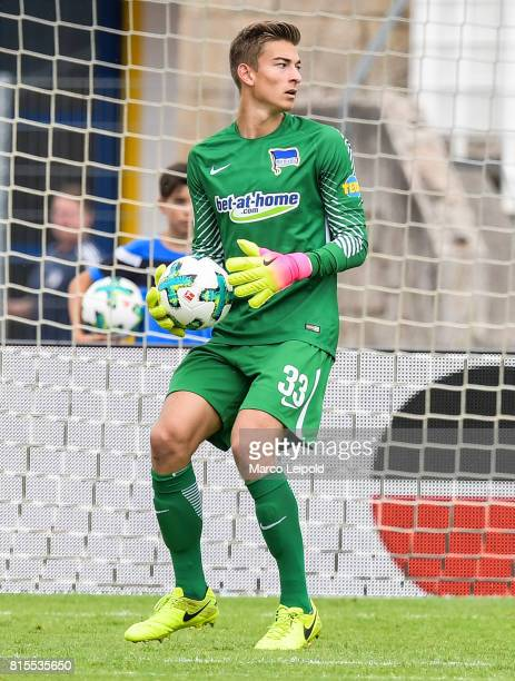 Jonathan Klinsmann of Hertha BSC during the test match between CarlZeiss Jena and Hertha BSC on july 16 2017 in Jena Germany