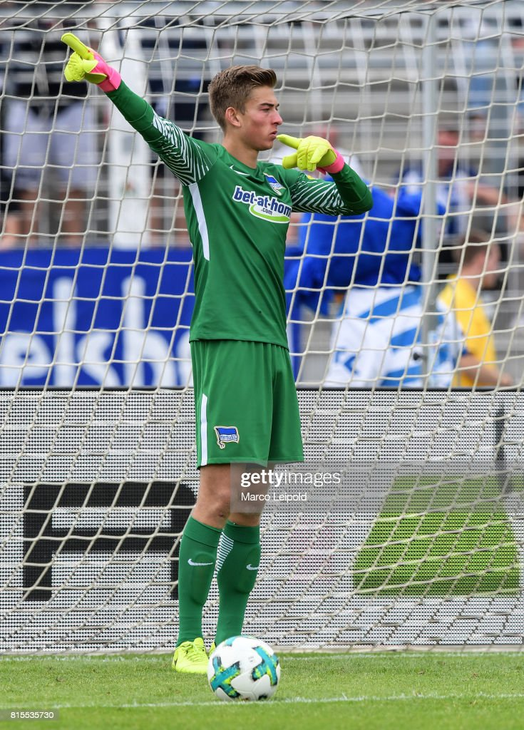 Jonathan Klinsmann of Hertha BSC during the test match between Carl-Zeiss Jena and Hertha BSC on july 16, 2017 in Jena, Germany.