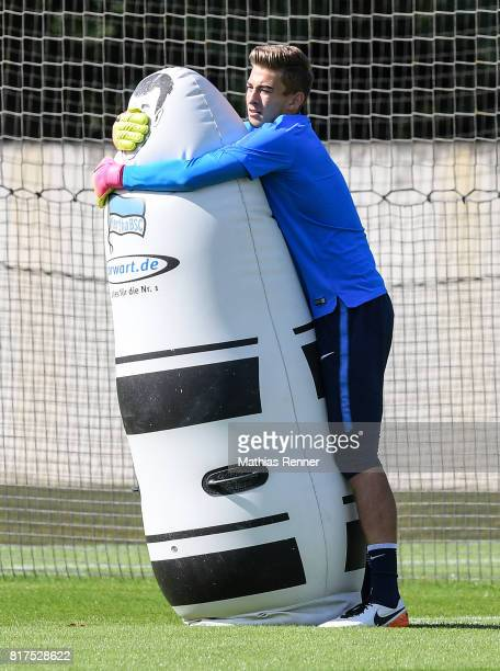 Jonathan Klinsmann of Hertha BSC during the training on July 18 2017 in Berlin Germany