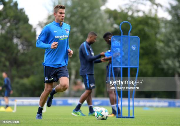 Jonathan Klinsmann of Hertha BSC during the training on July 5 2017 in Berlin Germany