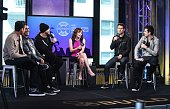 Jonathan Knight Danny Wood Donnie Wahlberg Joey McIntyre and Jordan Knight of New Kids on the Block attend AOL Build Speaker Series to discuss 'Rock...