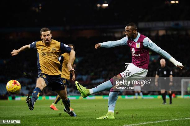 Jonathan Kodjia of Aston Villa and Gary O'Neil of Bristol City in action during the Sky Bet Championship match between Aston Villa and Bristol City...