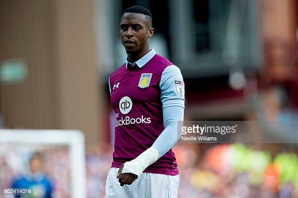 Jonathan Kodjia of Aston Villa during the Sky Bet Championship match between Aston Villa and Nottingham Forest at Villa Park on September 11 2016 in...