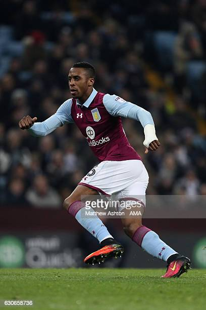 Jonathan Kodjia of Aston Villa during the Sky Bet Championship match between Aston Villa and Leeds United at Villa Park on December 29 2016 in...