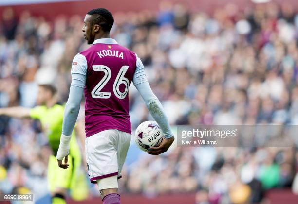Jonathan Kodjia of Aston Villa during the Sky Bet Championship match between Aston Villa and Reading at Villa Park on April 15 2017 in Birmingham...