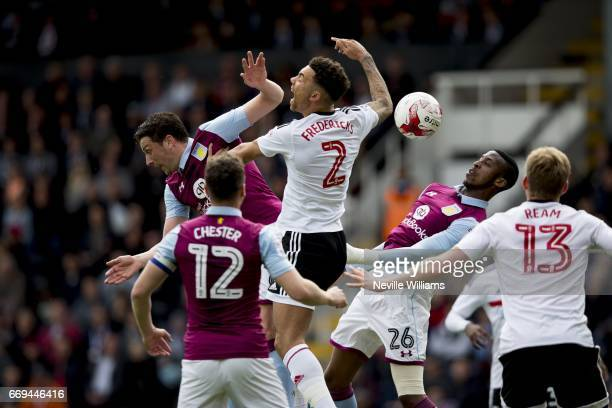 Jonathan Kodjia of Aston Villa during the Sky Bet Championship match between Fulham and Aston Villa at Craven Cottage on April 17 2017 in London...