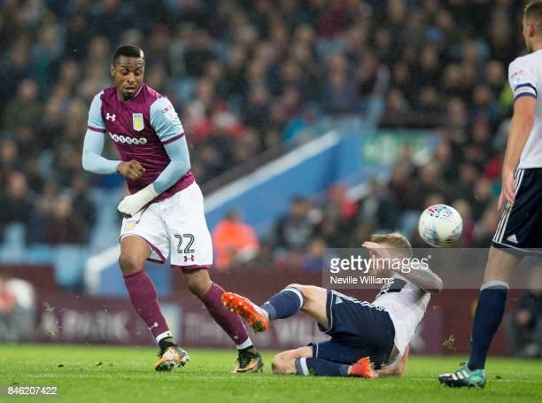Jonathan Kodjia of Aston Villa during the Sky Bet Championship match between Aston Villa and Middlesbrough at Villa Park on September 12 2017 in...