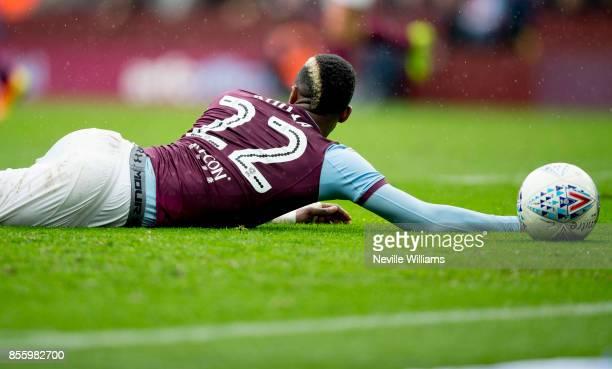 Jonathan Kodjia of Aston Villa during the Sky Bet Championship match between Aston Villa and Bolton Wanderers at Villa Park on September 30 2017 in...