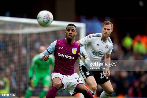 Jonathan Kodjia of Aston Villa during the Sky Bet Championship match between Aston Villa and Fulham at Villa Park on October 21 2017 in Birmingham...