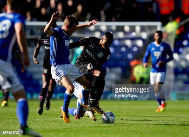 Jonathan Kodjia of Aston Villa during the Sky Bet Championship match between Birmingham City and Aston Villa at St Andrews on October 29 2017 in...