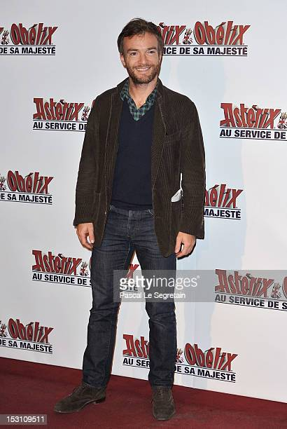Jonathan Lambert attends the 'Asterix Obelix Au Service De Sa Majeste' premiere at Le Grand Rex on September 30 2012 in Paris France
