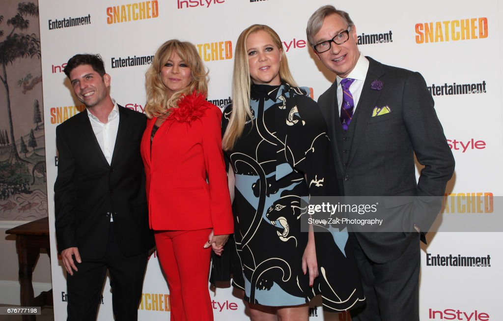 Jonathan Levine, Goldie Hawn, Amy Schumer and Paul Feig attend the 'Snatched' New York Premiereat the Whitby Hotel on May 2, 2017 in New York City.