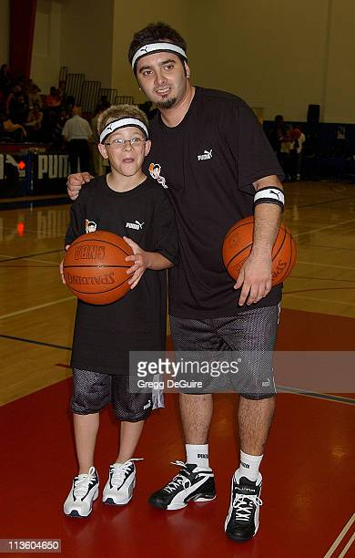 Jonathan Lipnicki Chris Kirkpatrick of 'NSync' during Frankie Muniz Hosts 'HoopLA' a Celebrity Basketball Game Which Benefits The Starlight...