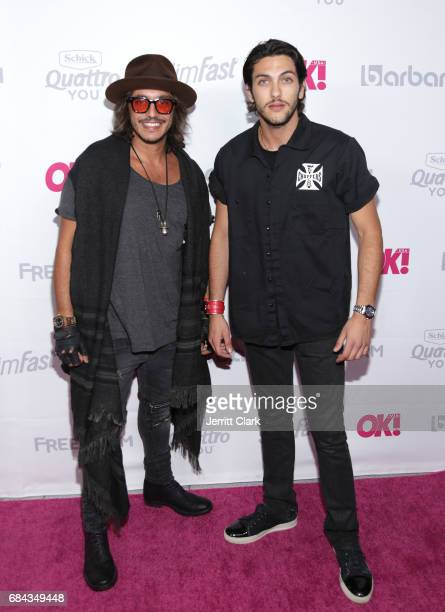 Jonathan Loubens and Alon Haccoun attend OK Magazine's Summer KickOff Party at W Hollywood on May 17 2017 in Hollywood California