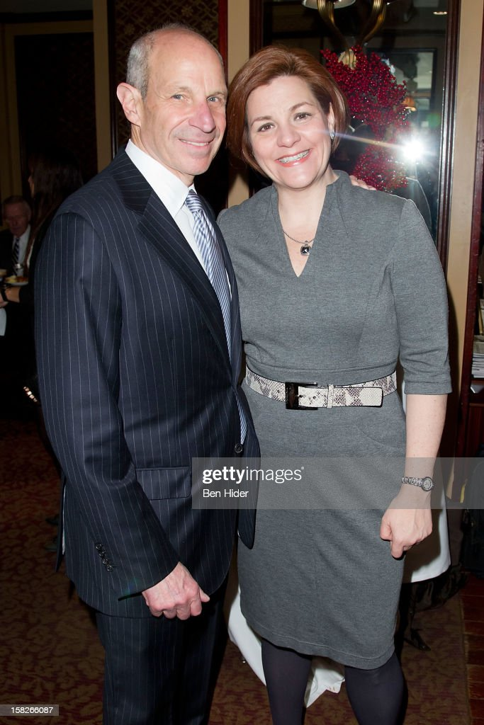 Jonathan M. Tisch, Chairman of Loews Hotels and City Council Speaker Christine C. Quinn attends Loews Regency Hotel Power Breakfast Event at the Loews Regency Hotel on December 12, 2012 in New York City.