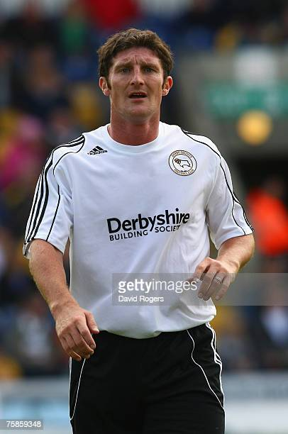 Jonathan Macken of Derby County pictured during the pre season friendly match between Mansfield Town and Derby County at Field Mill on July 28 2007...