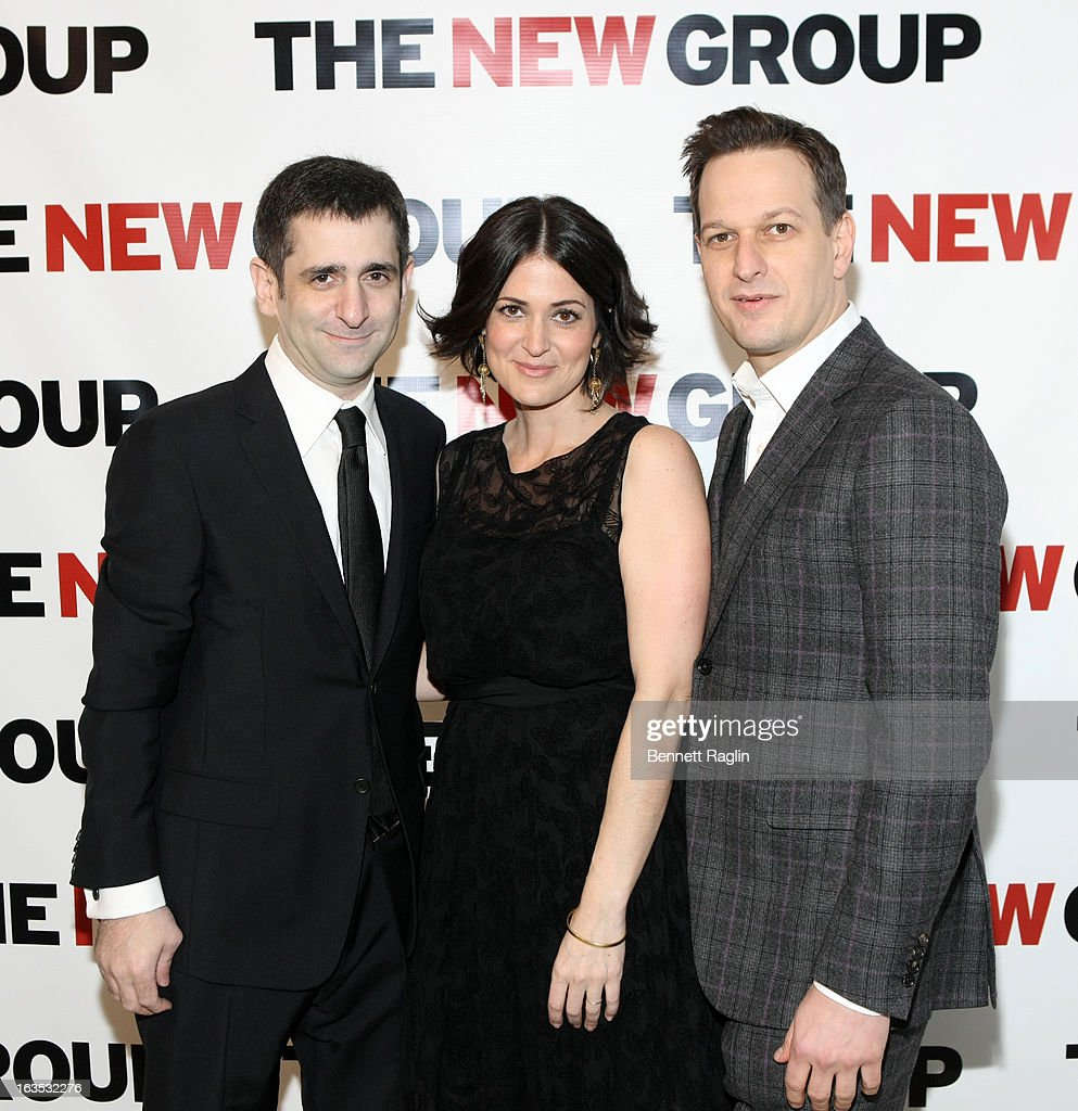 Jonathan Marc Sherman, Alexandra Sherman, and <a gi-track='captionPersonalityLinkClicked' href=/galleries/search?phrase=Josh+Charles&family=editorial&specificpeople=240614 ng-click='$event.stopPropagation()'>Josh Charles</a> attend The New Group Bright Lights Off-Broadway 2013 Gala at Tribeca Rooftop on March 11, 2013 in New York City.
