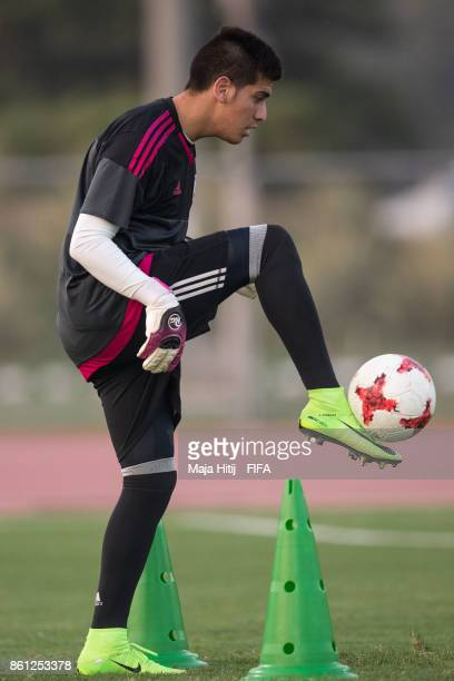 Jonathan Martinez of Paraguay controls the ball during the training ahead of the FIFA U17 World Cup India 2017 tournament at on October 14 2017 near...