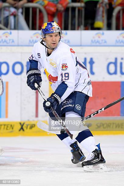 Jonathan Matsumoto of EHC Red Bull Muenchen during the action shot on October 2 2016 in Duesseldorf Germany