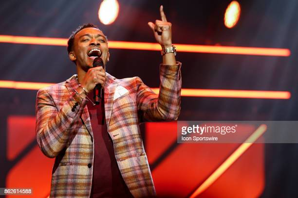 Jonathan McReynolds performs during the 48th Annual GMA Dove Awards in Allen Arena on October 17 2017 in Nashville TN