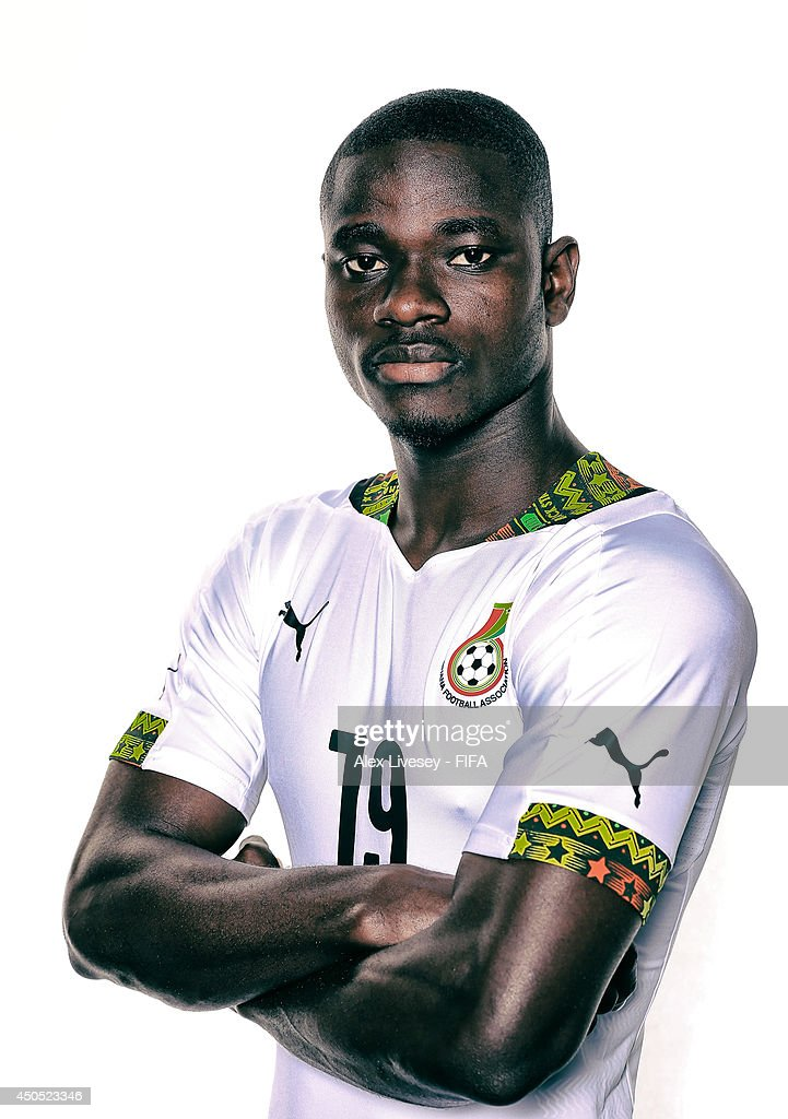 Jonathan Mensah of Ghana poses during the official FIFA World Cup 2014 portrait session on June 11, 2014 in Maceio, Brazil.