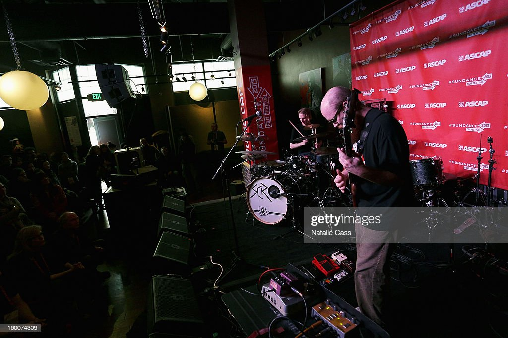 Jonathan Meyers and Riley Sorenson perform onstage at the ASCAP Music Cafe Day 8 during the 2013 Sundance Film Festival at Sundance ASCAP Music Cafe on January 25, 2013 in Park City, Utah.
