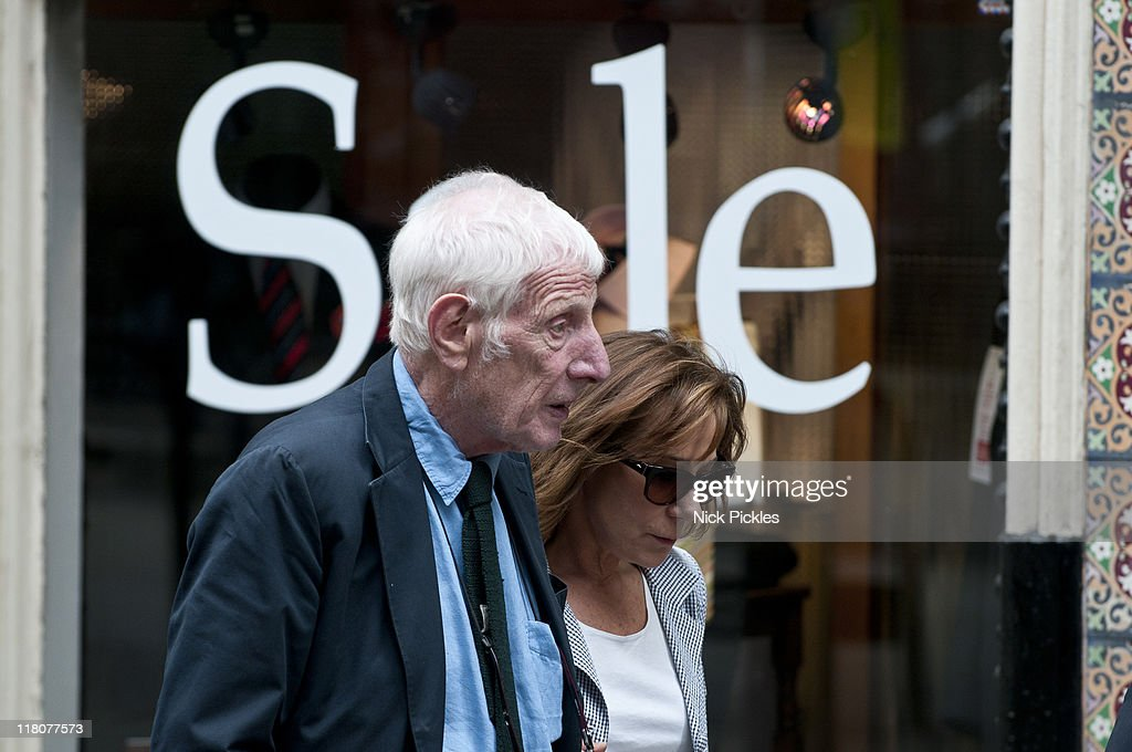 Jonathan Miller and Zoe Wanamaker attend the memorial service for British playwright Pam Gems at Saint James Church on July 3 2011 in London England