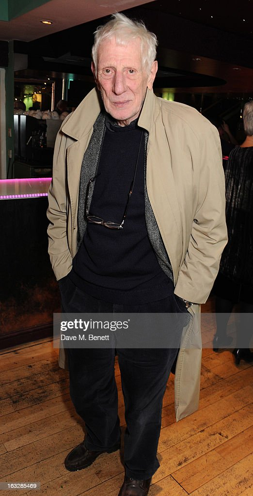 Jonathan Miller attends an after party following the 'Paper Dolls' press night at Tricycle Theatre on March 6, 2013 in London, England.